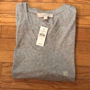 NWT size small grey v neck t-shirt